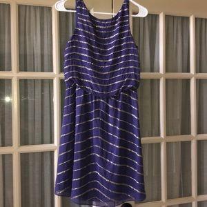 Gianni Bini Purple and Silver Dress